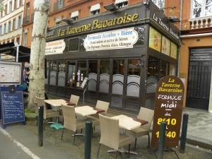 La Taverne Bavaroise à Toulouse au 59 boulevard de Strasbourg. La devanture a été modernisée récemment.