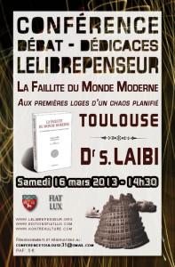 Annonce de la conférence de Salim Laibi en mars 2013.