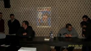 « Joe le Corbeau » [3] et Salim Laïbi à la tribune pour la conférence du 16 mars au Royal à Toulouse.