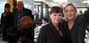 Christine Lanciaux en compagnie de Jean-Pierre Jautron et Marine Le Pen le dernier à Blagnac.