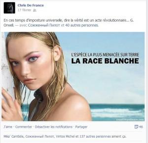 Christine Lanciaux et la race blanche…