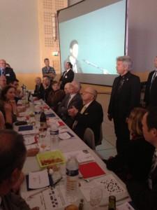 Dernier meeting de campagne à Toulouse le samedi 15 mars 2014, Serge nous a encore sortie ses mots croisés…